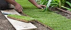 grasmat aanleggen